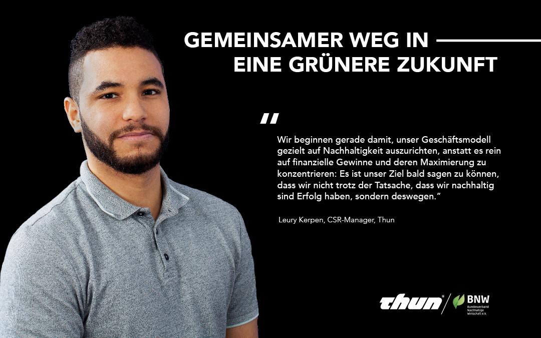 Thun wird Mitglied im Bundesverband Nachhaltige Wirtschaft e.V. (BNW)